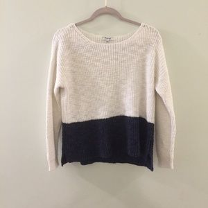 MADEWELL Eastbank Pullover sweater in Colorblock;